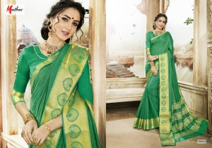 DESIGNER SAREE BY MANTHAN COTTON SILK FABRIC COLLECTION (1)