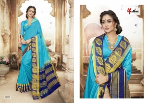 DESIGNER SAREE BY MANTHAN COTTON SILK FABRIC COLLECTION (4)