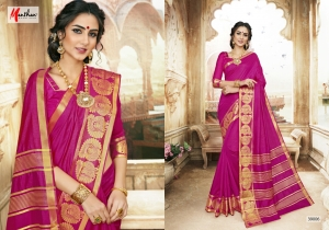 DESIGNER SAREE BY MANTHAN COTTON SILK FABRIC COLLECTION (6)