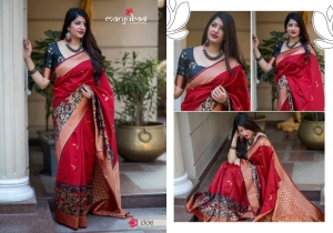 Manjubaa-Saree-Mannat-Silk-1501-1510-Series-Indian-Banarasi-Silk-Saree-Supplier-10