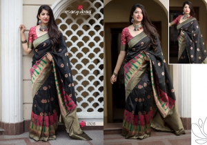 Manjubaa-Saree-Mannat-Silk-1501-1510-Series-Indian-Banarasi-Silk-Saree-Supplier-11