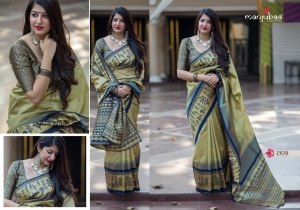 Manjubaa-Saree-Mannat-Silk-1501-1510-Series-Indian-Banarasi-Silk-Saree-Supplier-12