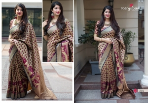 Manjubaa-Saree-Mannat-Silk-1501-1510-Series-Indian-Banarasi-Silk-Saree-Supplier-3
