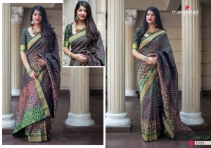 Manjubaa-Saree-Mannat-Silk-1501-1510-Series-Indian-Banarasi-Silk-Saree-Supplier-7