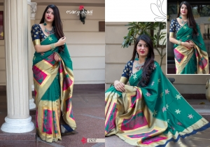 Manjubaa-Saree-Mannat-Silk-1501-1510-Series-Indian-Banarasi-Silk-Saree-Supplier-9