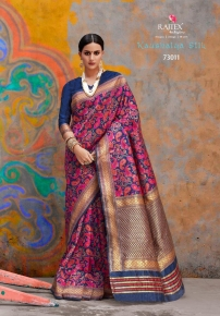 Kaushalya-Silk-By-Rajtex-Saree-73001-73012-Series-Silk-Saree-Exporter-Supplier-In-Surat-9