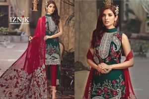 Shree Fabs Iznik Embroidered Collection Heavy Embroidered Faux Georgette Pakis (13)