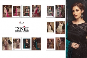 Shree Fabs Iznik Embroidered Collection Heavy Embroidered Faux Georgette Pakis (14)