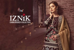 Shree Fabs Iznik Embroidered Collection Heavy Embroidered Faux Georgette Pakis (3)