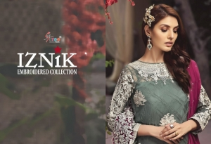 Shree Fabs Iznik Embroidered Collection Heavy Embroidered Faux Georgette Pakis (4)