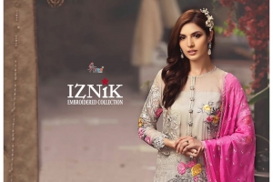 Shree Fabs Iznik Embroidered Collection Heavy Embroidered Faux Georgette Pakis (6)