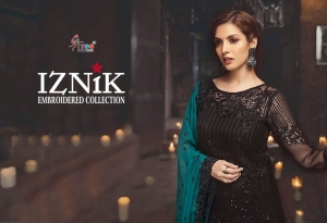 Shree Fabs Iznik Embroidered Collection Heavy Embroidered Faux Georgette Pakis (7)