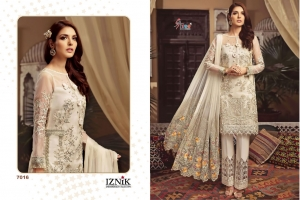 Shree Fabs Iznik Embroidered Collection Heavy Embroidered Faux Georgette Pakis