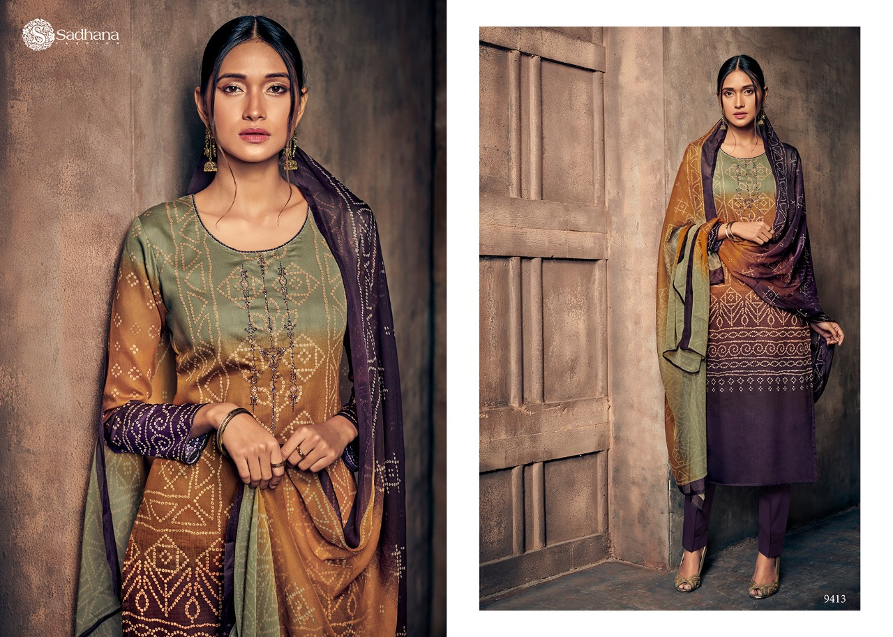 74f89a68b3 Sadhana Vol 19 by Sadhana Fashion Designer Pure Jam Cotton with Print and  Embroidery Work Suits at Wholesale Rate - Tathastu Wholesale