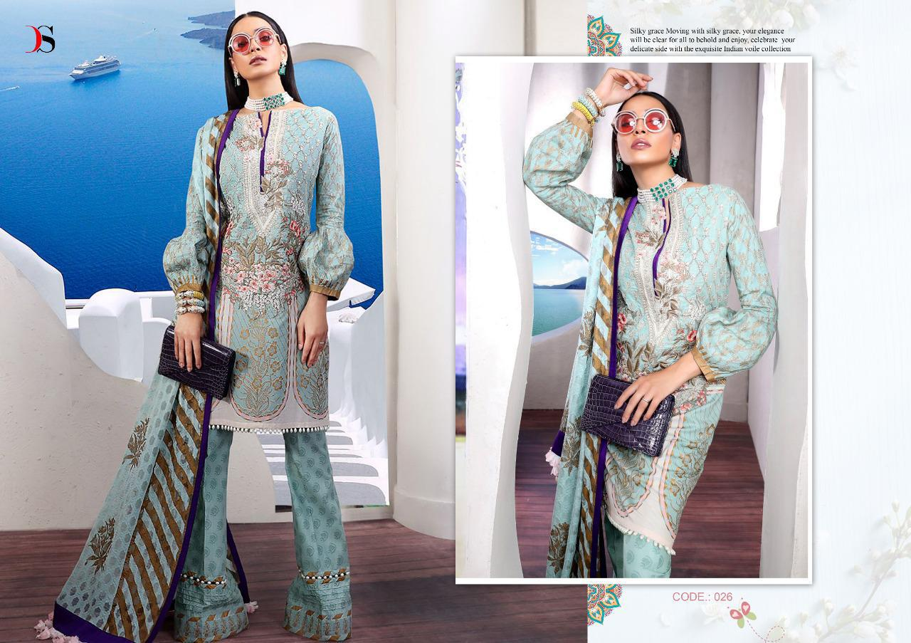ebd50e9235 Muzlin Premium by Deespy Suits Pure Cotton with Gold Print and Embroidery  Work Pakistani Suits at Wholesale Rate - Tathastu Wholesale